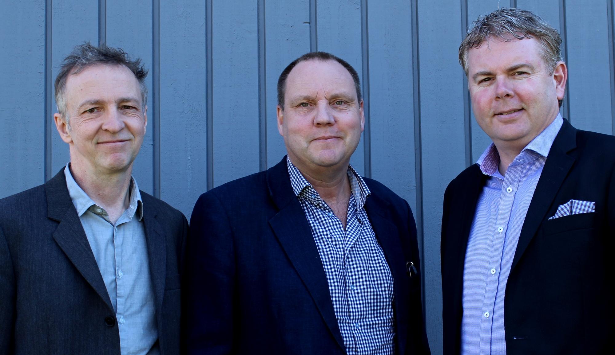 Mats Cato, Hans Hellberg och Ove Nordqvist.