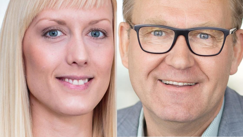 Linnea Olsson och Bengt Wånggren.